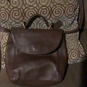 Brown gently used coach bag